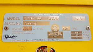 snack vending label
