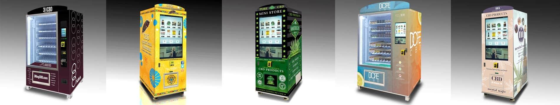 Gallery of custom CBD vending machines